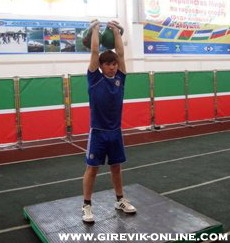 Youth kettlebell comp