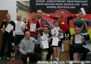 Kettlebell Championship of  3-German regions on nontraditional exercises