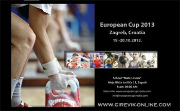 European Kettlebell Cup 2013, Zagreb